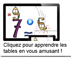 Apprendre les tables de multiplication facilement for Apprendre table multiplication en jouant